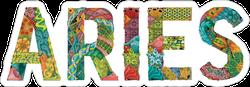 Word Aries Sticker
