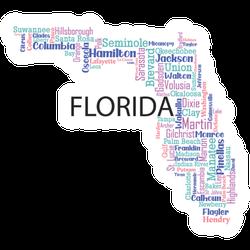 Word Art Design State Of Florida Sticker