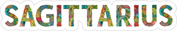 Word Sagittarius Sticker