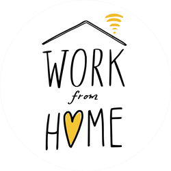 Work from Home Sticker