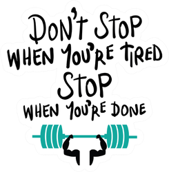 Workout Gym Fitness Motivation Concept Sticker