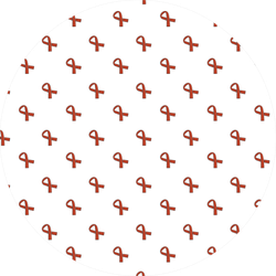 World Cancer Day, Seamless Pattern Of Ribbon Sticker