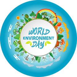 World Environment Day Green Earth Sticker