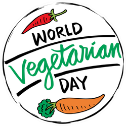 World Vegetarian Day Carrot And Pepper Sticker