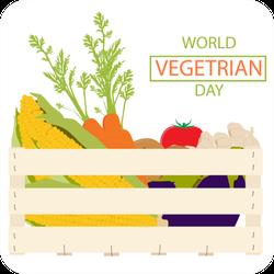 World Vegetarian Day Vegetable Basket Sticker