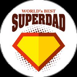 World's Best Superdad Sticker