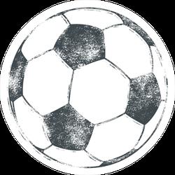 Worn Out Soccer Ball Sticker