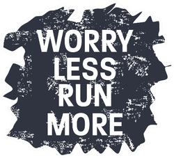 Worry Less Run More Fitness & Health Sticker