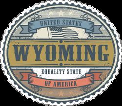 Wyoming Badge Sticker
