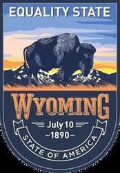 Wyoming Banner Sticker