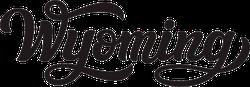 Wyoming Calligraphy Sticker