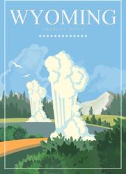 Wyoming Travel Sticker