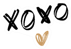 XOXO Golden Heart Boho Sticker