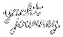 Yacht Journey Lettering With Sea Boat Rope Sticker