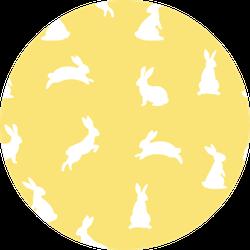 Yellow Bunny Seamless Pattern Sticker