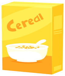 Yellow Cereal Box Sticker