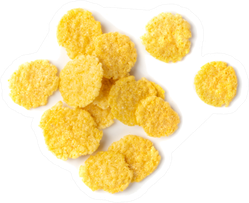 Yellow Corn Cereal For Breakfast In A Pile Sticker