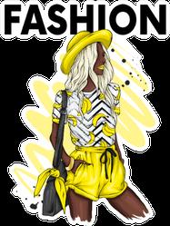 Yellow Fashion Sticker