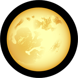 Yellow Full Moon at Night Sticker