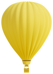 Yellow Hot Air Balloon Sticker