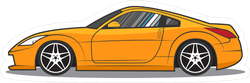 Yellow Japanese JDM Sports Car Sticker