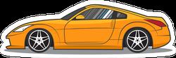 Yellow Japanese JDM Sports Car Sticker
