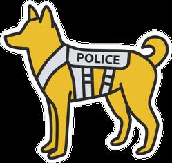 Yellow K9 Police Dog Sticker