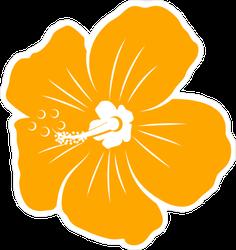 Yellow Vector Hibiscus Flower Sticker