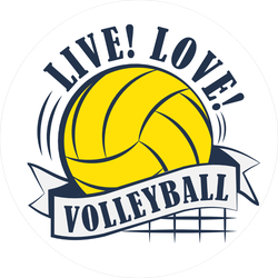Live Love Volleyball Sticker