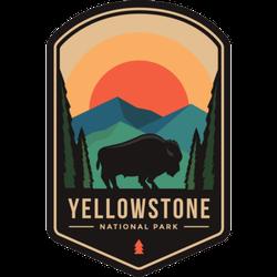 Yellowstone National Park Badge Sticker