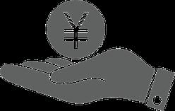 Yen In Hand Sticker
