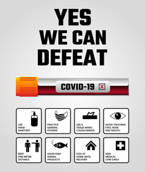 Yes We Can Defeat Coronavirus Sticker