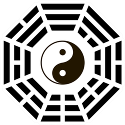 Yin And Yang Symbol With Bagua Arrangement Sticker