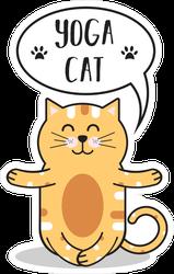 Yoga Cat Sticker