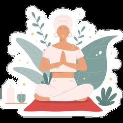 Yoga Outdoors Sticker