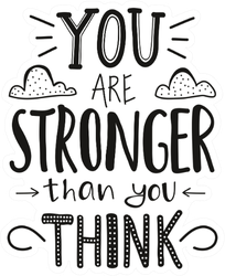 You Are Stronger Than You Think Inspiring Fitness Art Sticker