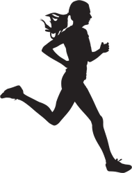 Young Running Woman Sticker