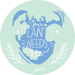 Your Planet Needs You Heart Shaped Earth Sticker