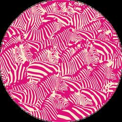 Zebra Pattern Bright Pink Sticker