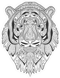 Zendoodle Tiger Sticker