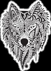 Zendoodle Wolf Sticker