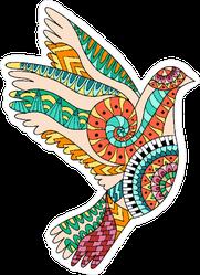 Zentangle Bird Hippie Sticker