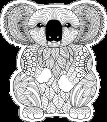 Zentangle Koala Sticker
