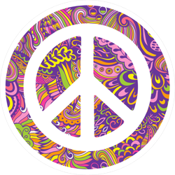 Zentangle Peace Sign Sticker