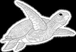 Zentangle Sea Turtle Sticker