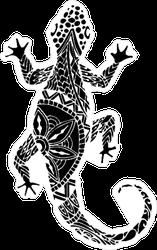 Zentangle Style Gecko Sticker
