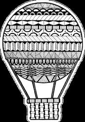 Zentangle Stylized Abstract Hot Air Ballon Sticker