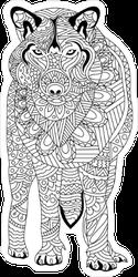 Zentangle Wolf Sticker