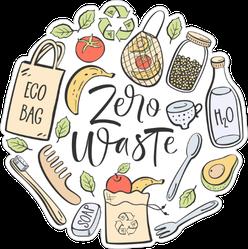 Zero Waste Collage Sticker