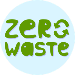 Zero Waste Recycle Sticker